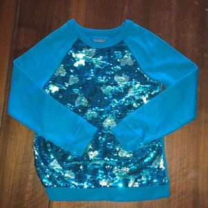 Youth flipped glitter shirt